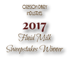 Oregon Dairy Industries 2017 Fluid Milk Sweepstakes Winner